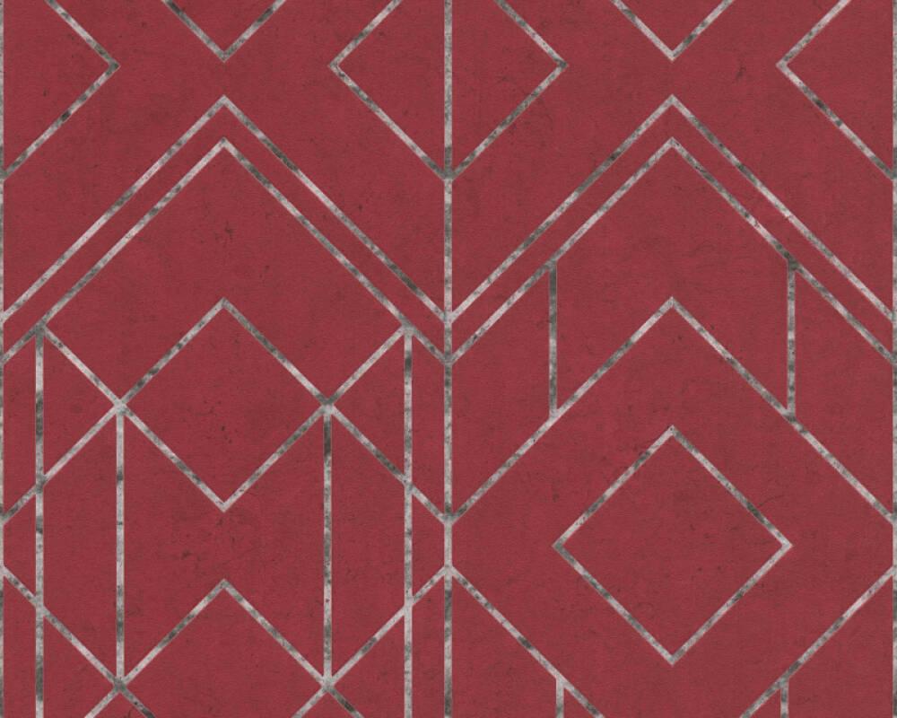 Livingwalls Wallpaper Graphics, Black, Metallic, Red 378692