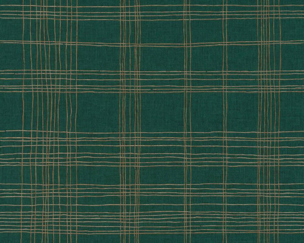 Livingwalls Wallpaper Graphics, Green, Metallic 379193