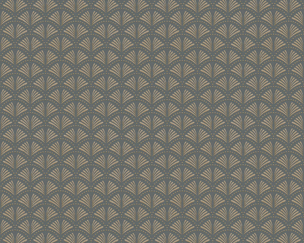 A.S. Création Tapete Grafik, Metallics, Schwarz 379573
