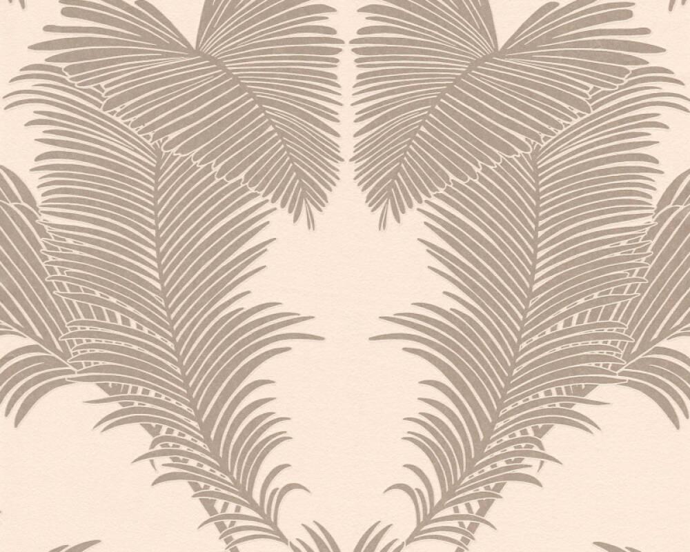 A.S. Création Tapete Floral, Creme, Metallics, Rosa 379591