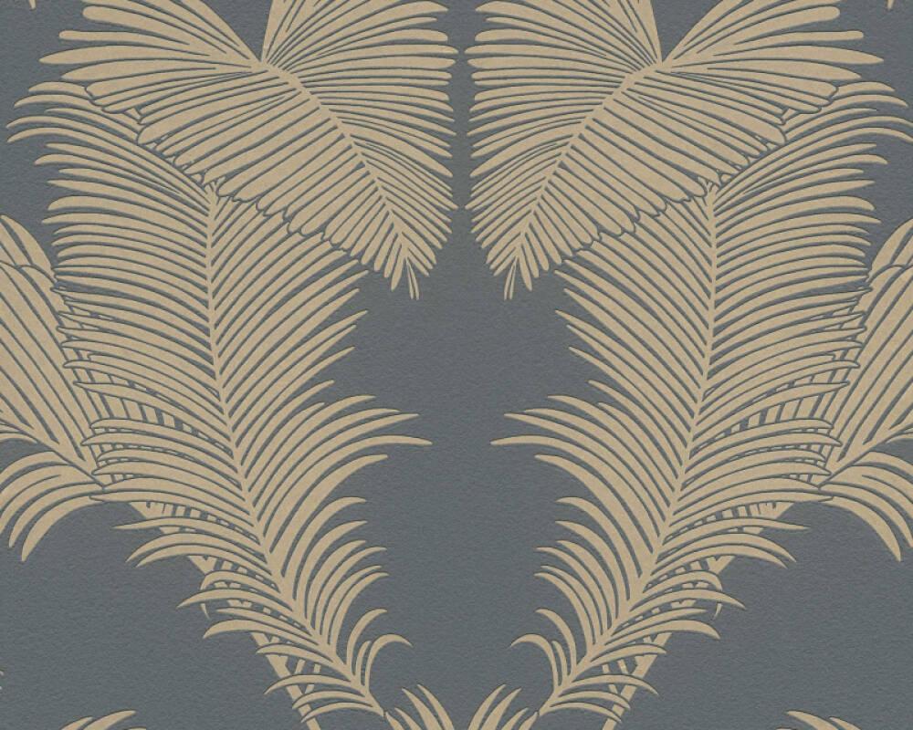 A.S. Création Tapete Floral, Metallics, Schwarz 379593