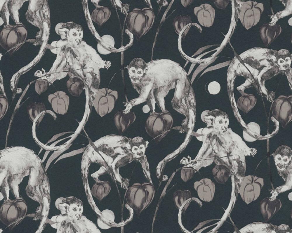 MICHALSKY LIVING papier peint Floral, gris, noir 379822