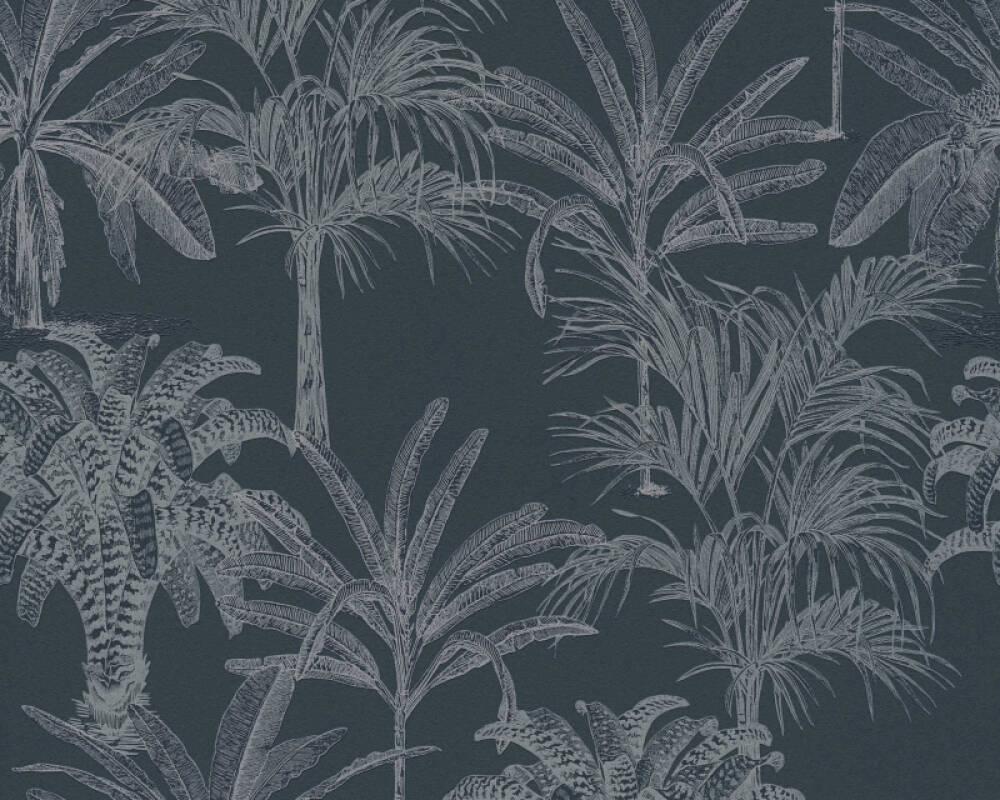 MICHALSKY LIVING papier peint Floral, noir 379832