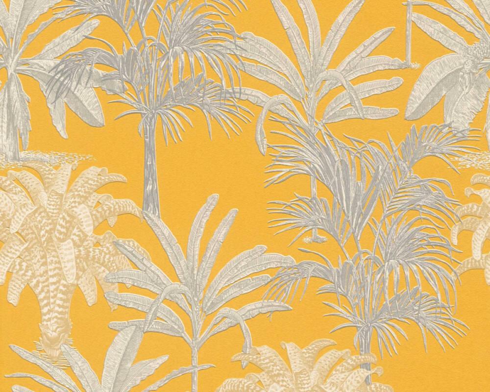 MICHALSKY LIVING papier peint Floral, jaune 379833
