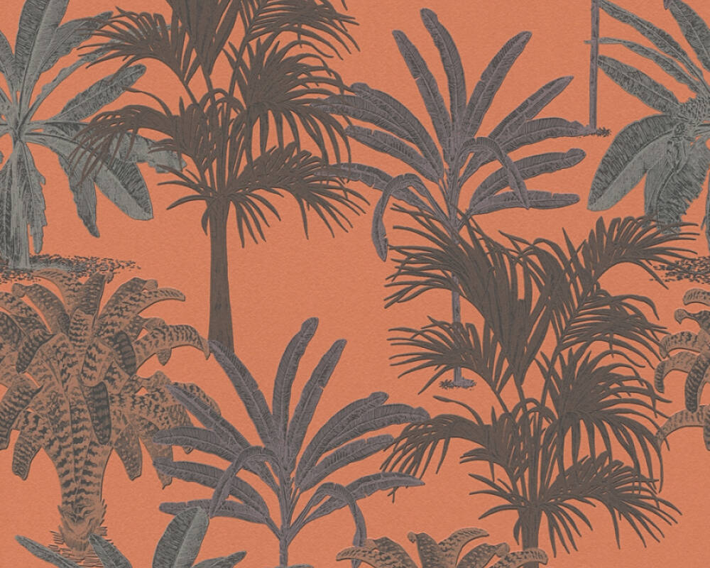 MICHALSKY LIVING papier peint Floral, marron, orange 379834