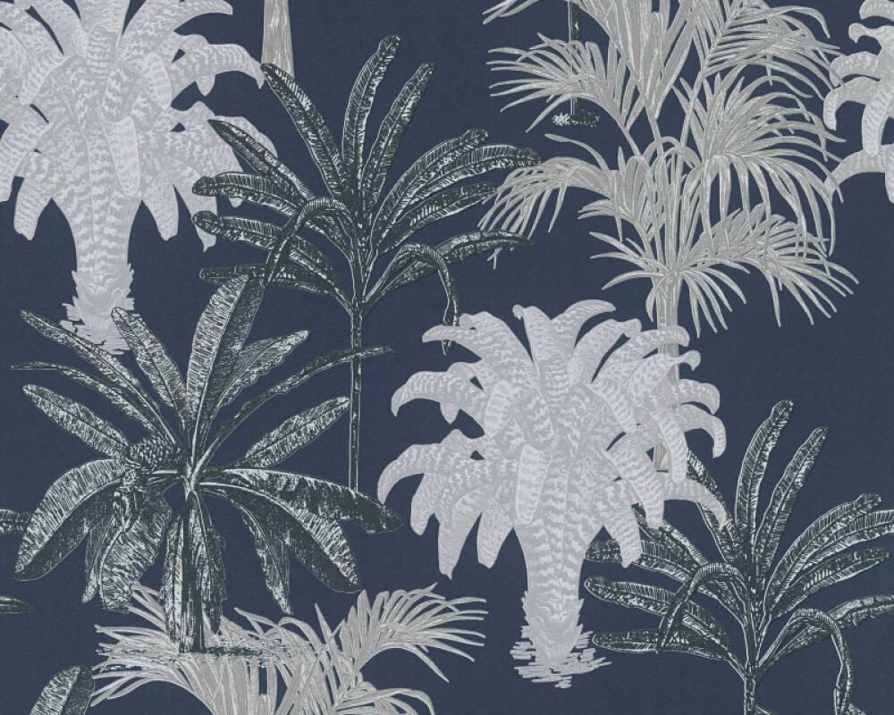 MICHALSKY LIVING papier peint Floral, bleu 379835