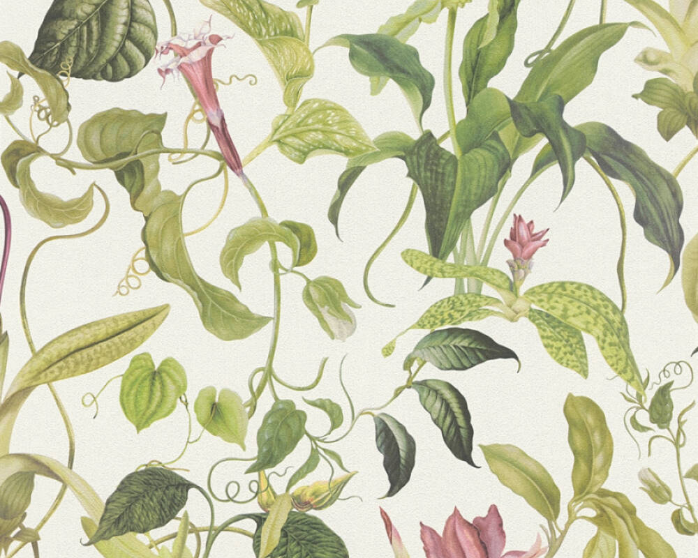 MICHALSKY LIVING Обои Флора, Зеленые, Кремовые, Розовые 379881