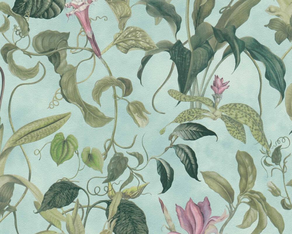 MICHALSKY LIVING Обои Флора, Зеленые, Розовые, Синие 379882