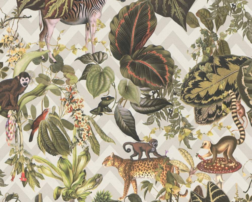 MICHALSKY LIVING papier peint Floral, beige, multicolore 379903