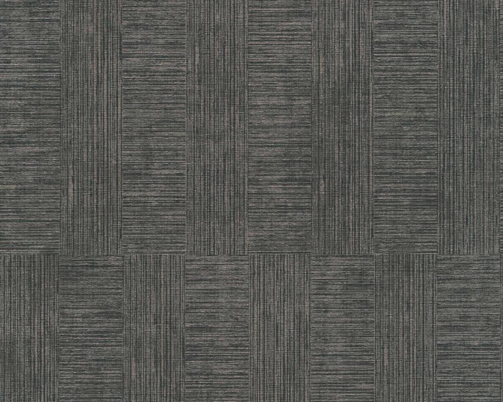 A.S. Création Tapete Streifen, Metallics, Schwarz 380263