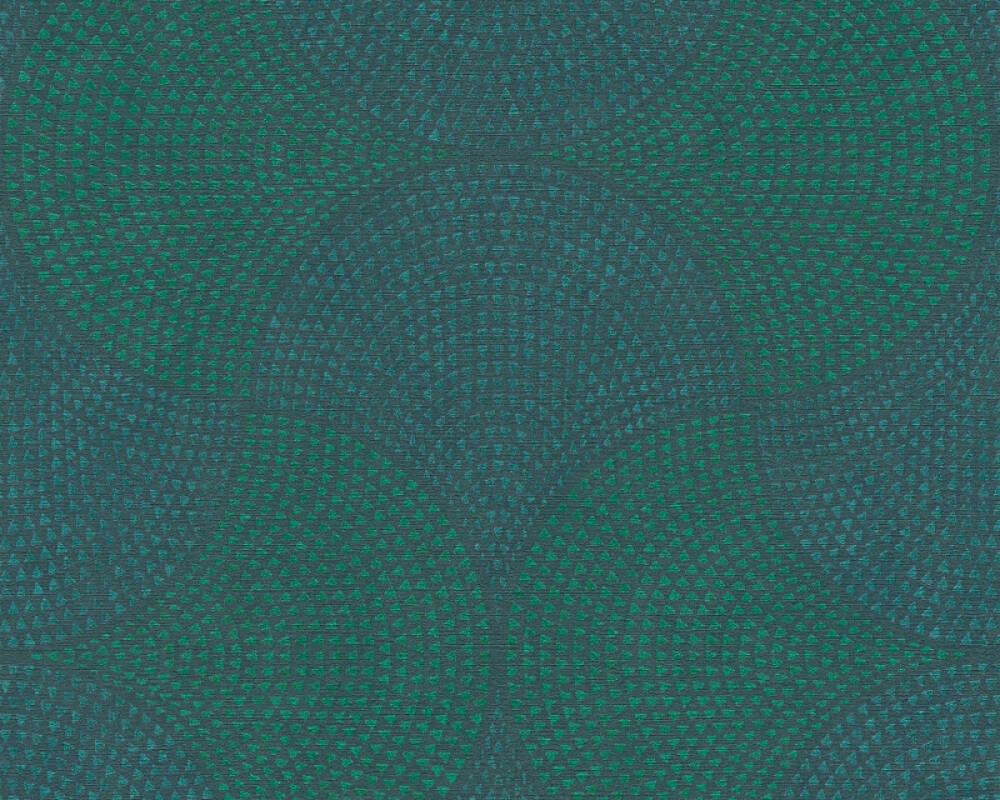 A.S. Création Tapete Grafik, Blau, Grün, Metallics 380271