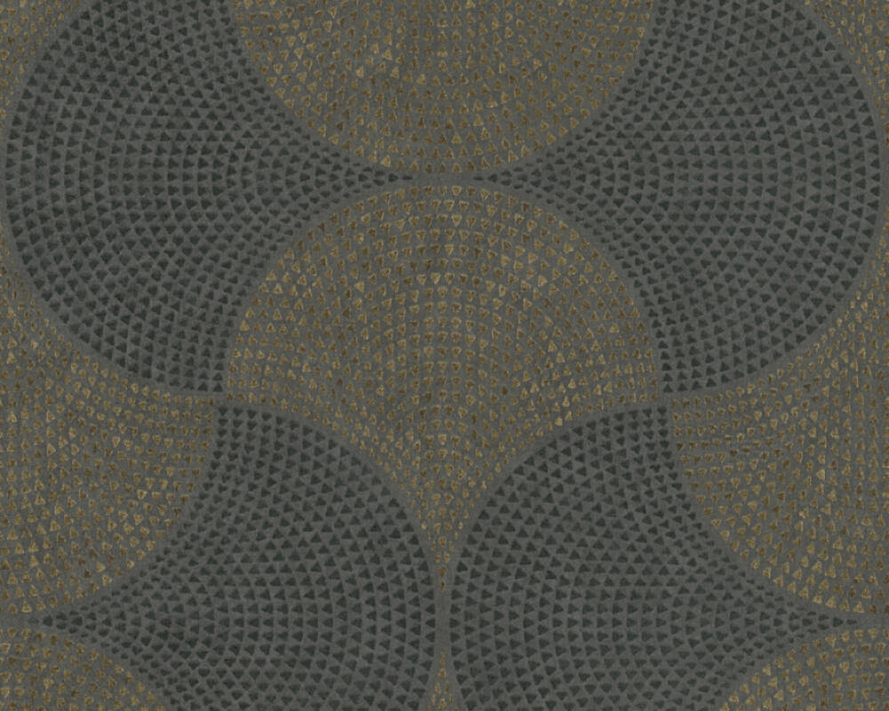 A.S. Création Tapete Grafik, Grau, Metallics, Schwarz 380274