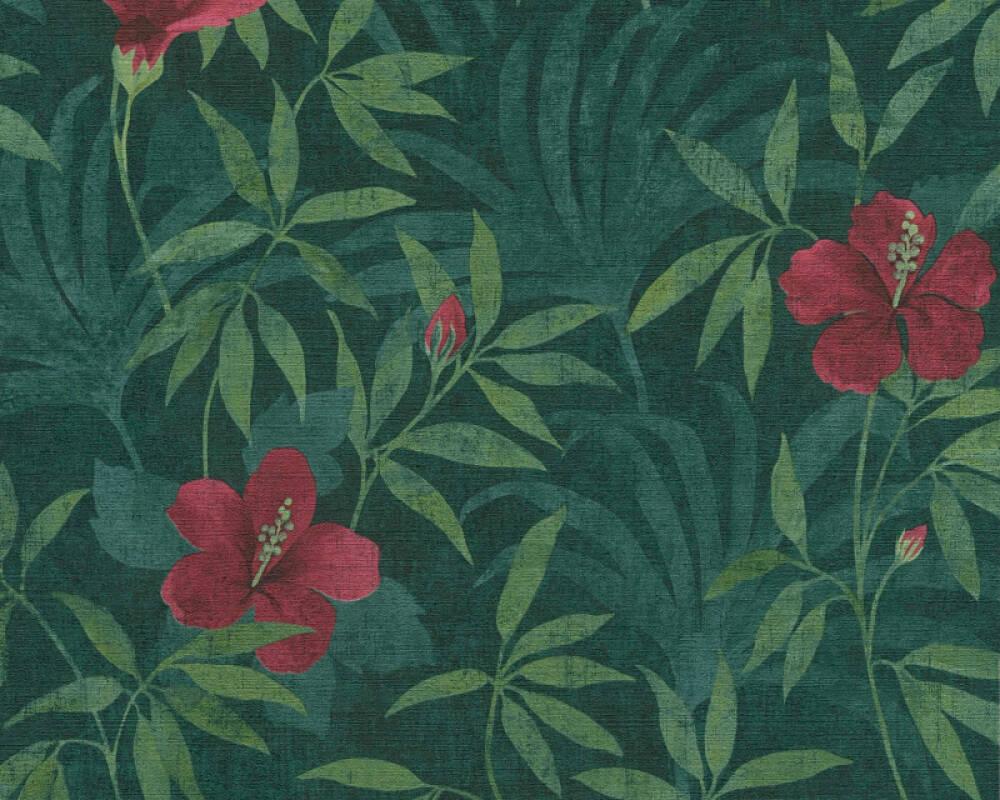 A.S. Création Tapete Grafik, Floral, Grün, Rot 380281