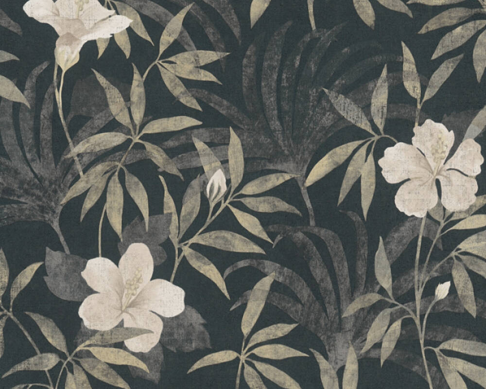 A.S. Création Tapete Grafik, Floral, Braun, Grau, Schwarz 380282