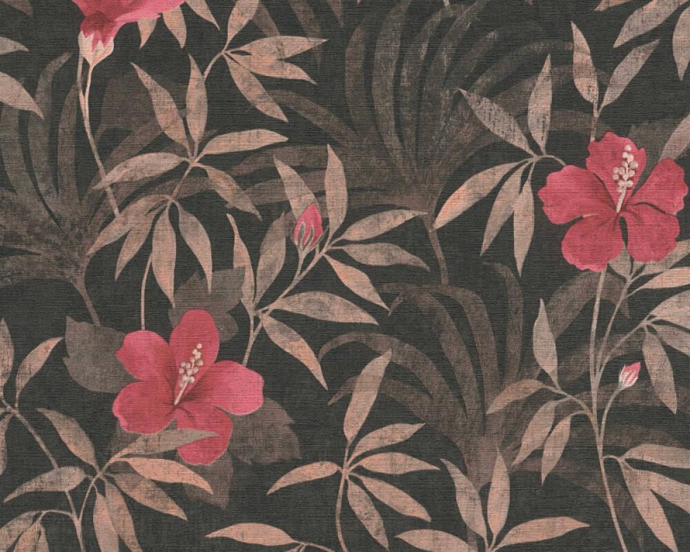 A.S. Création Tapete Grafik, Floral, Braun, Rot, Schwarz 380283