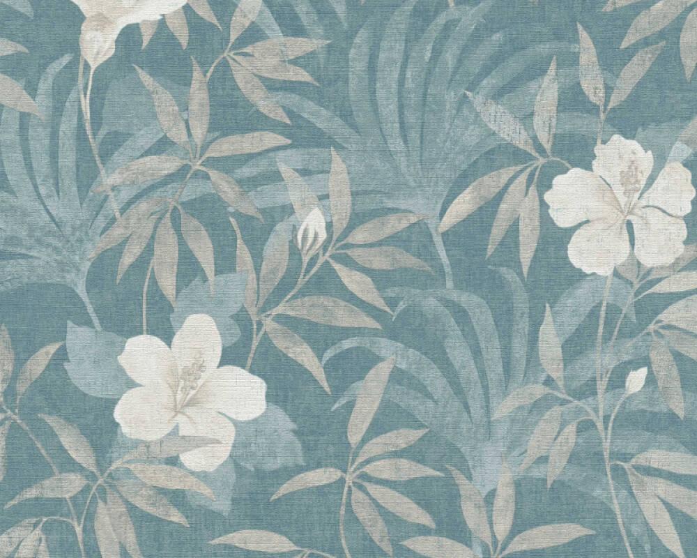 A.S. Création Wallpaper Graphics, Floral, Beige, Blue 380285