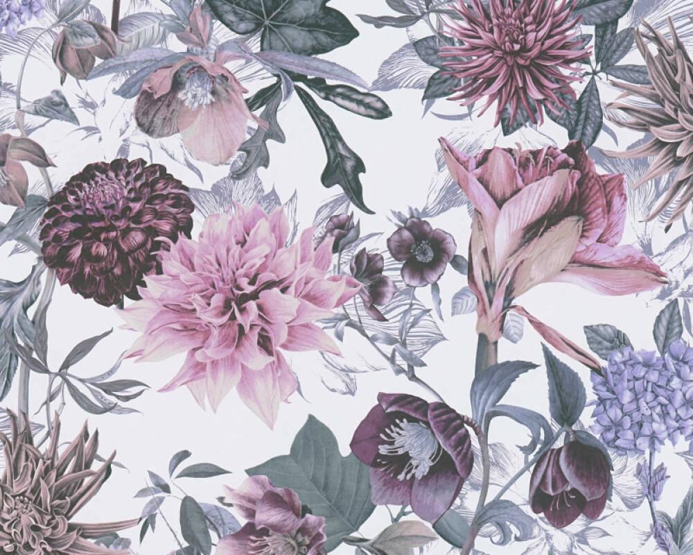A.S. Création Обои Флора, Белые, Зеленые, Фиолетовые 381752
