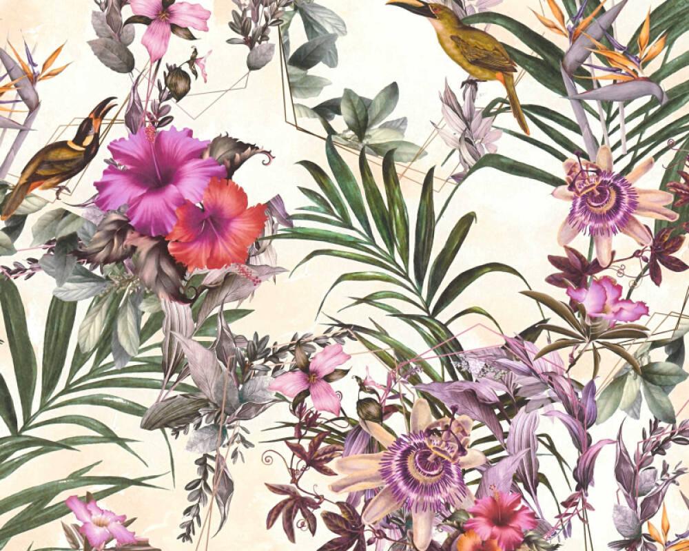 A.S. Création Tapete Grafik, Floral, Bunt 381786