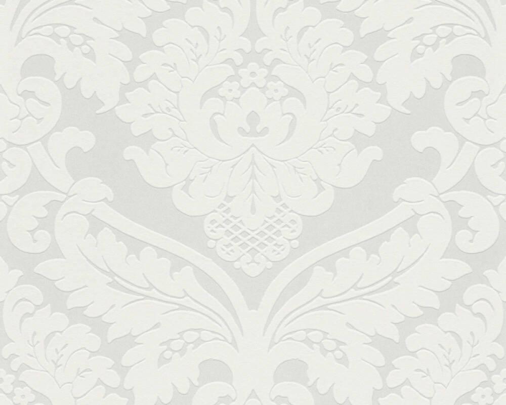 A.S. Création Обои Барокко, Флора, Белые, Металлик 554338