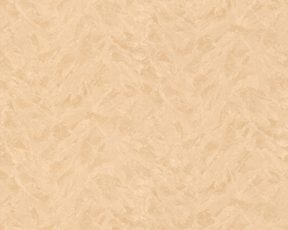 A.S. Création papier peint Uni, crème, orange 616104