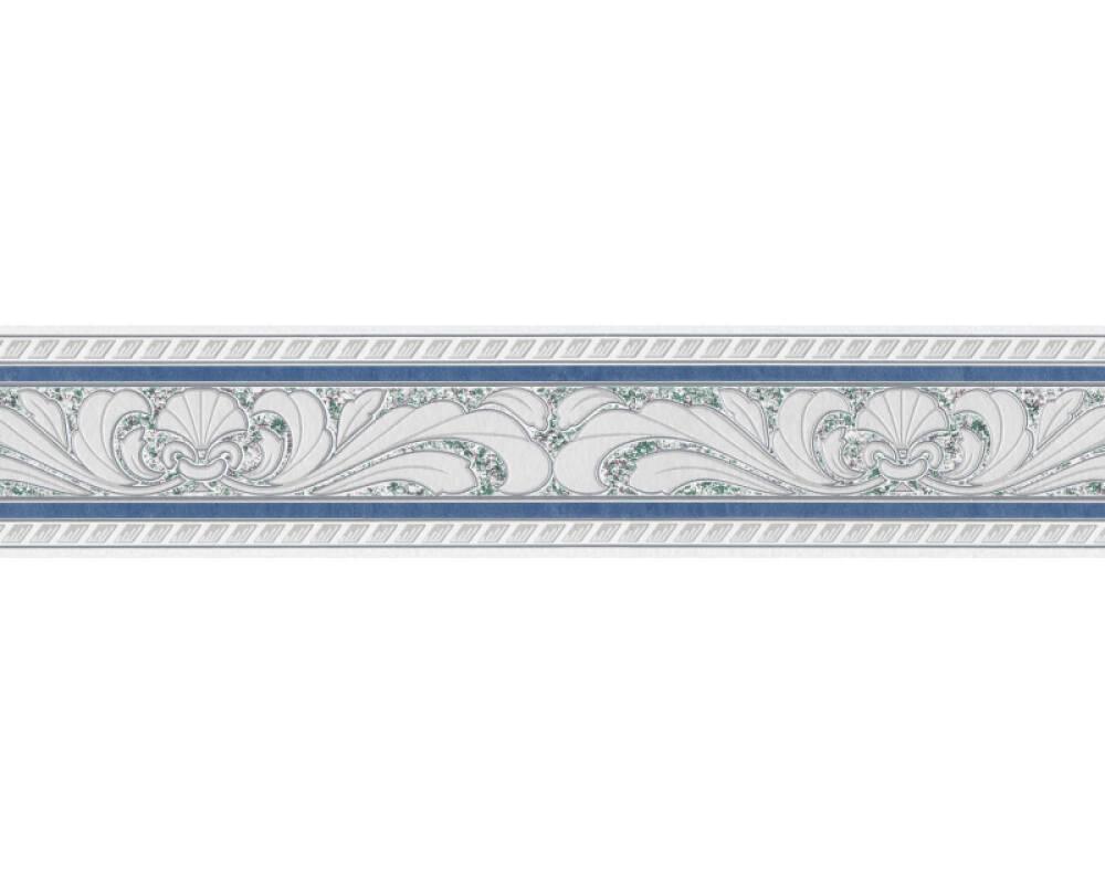 A S Creation Border Baroque Floral Blue Grey White 681645