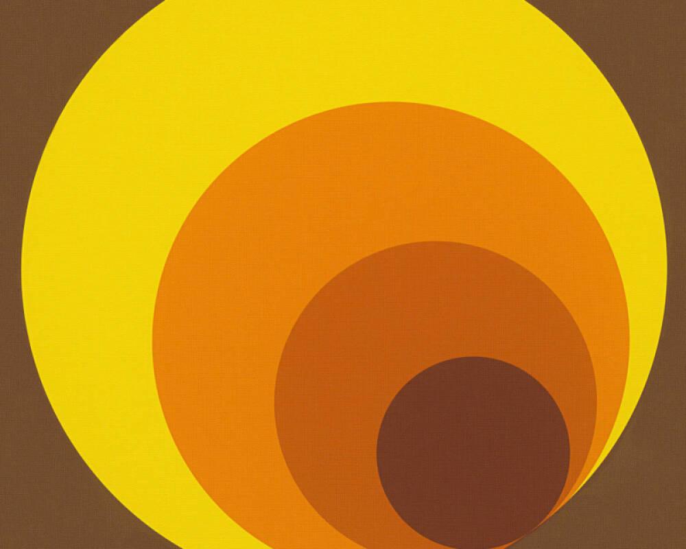 Livingwalls Wallpaper Graphics, Brown, Orange, Yellow 701312