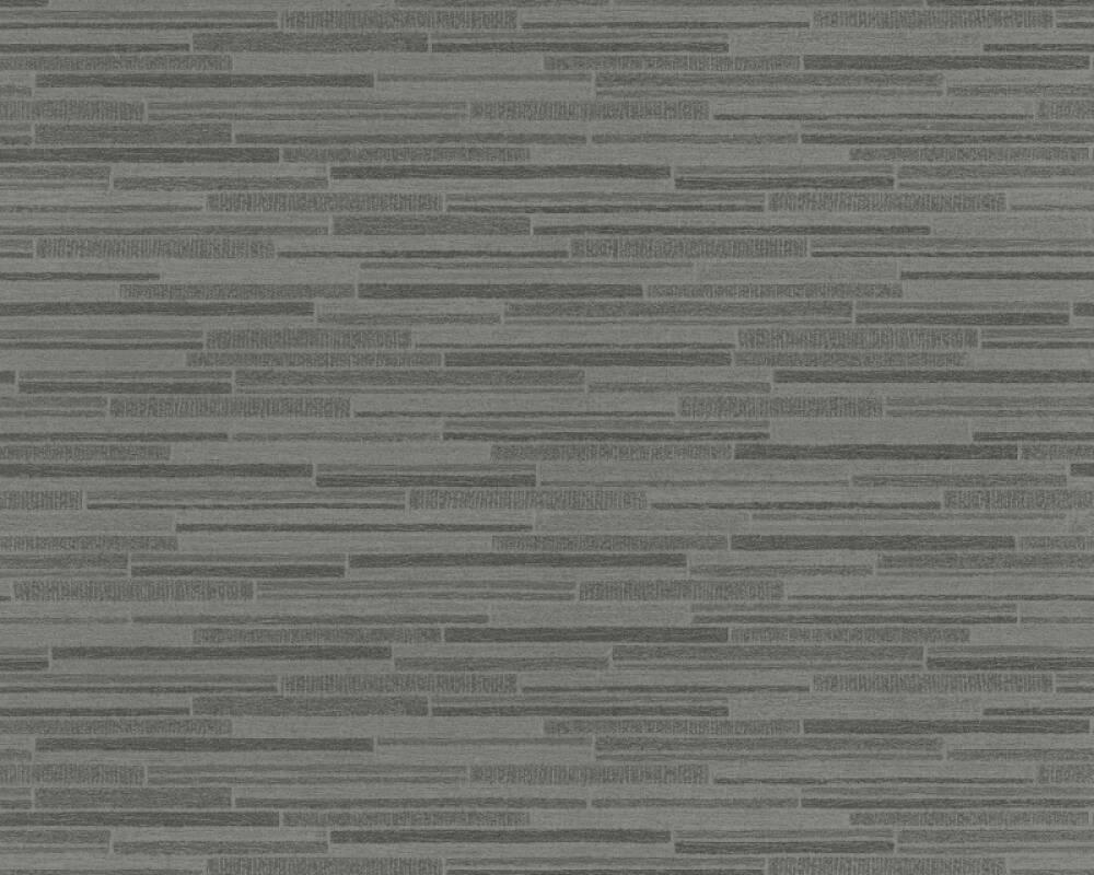 A.S. Création Wallpaper Stone, Black, Grey 709714
