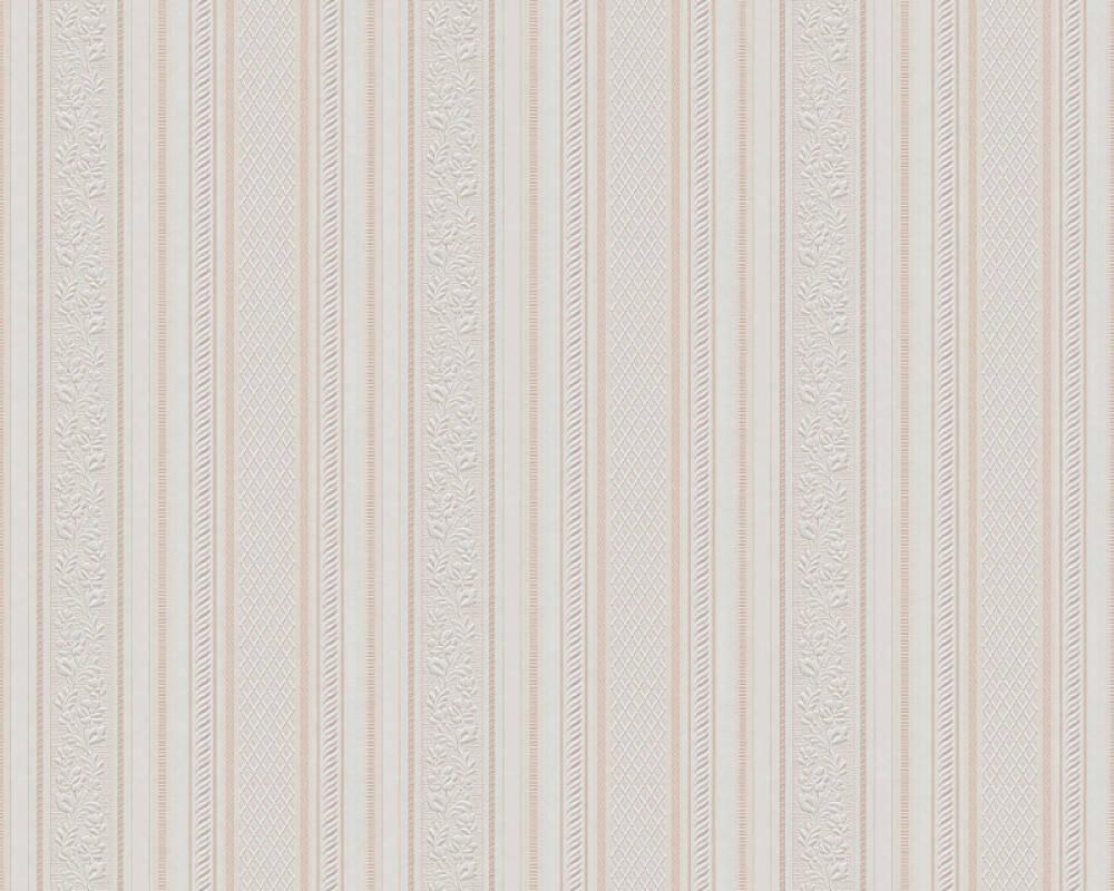 Papier Gaufré À Peindre a.s. création papier peint «rayures, beige, blanc, crème» 765673