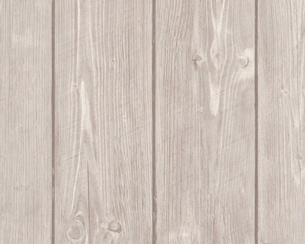 A.S. Création Wallpaper Wood, Beige, Brown 896827