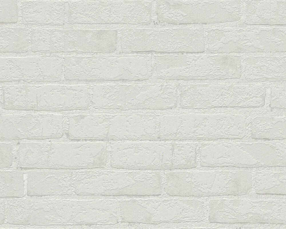 A.S. Création Wallpaper Stone, Grey, Metallic 907868
