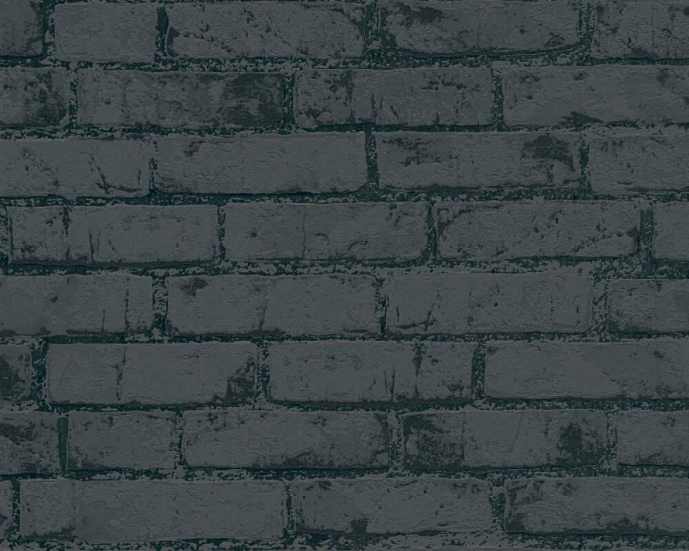 A.S. Création Wallpaper Stone, Black, Metallic 907882