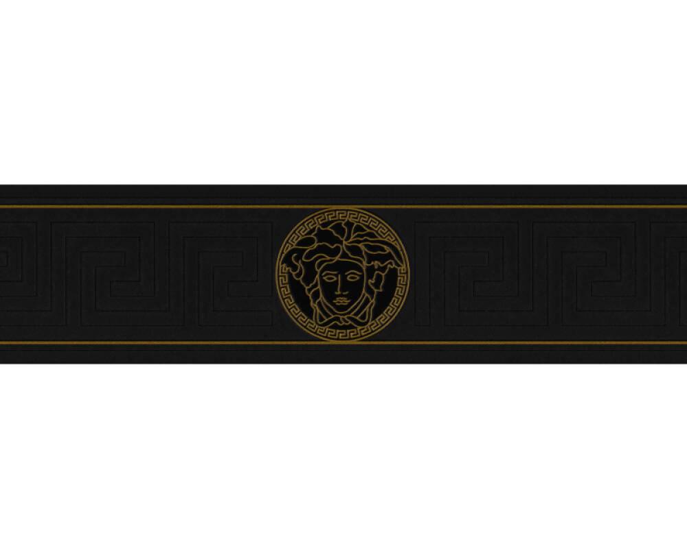 Versace Home papier peint Baroque, métallique, noir, or 935224