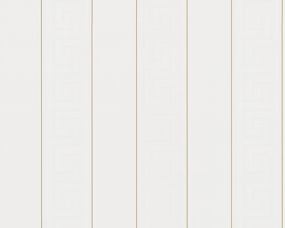 Versace Home Wallpaper Stripes, Gold, Metallic, White 935241