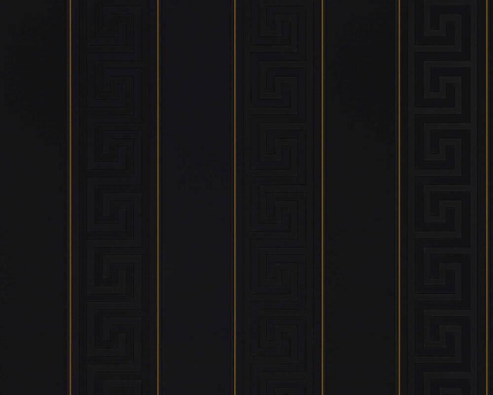 Versace Home papier peint Rayures, métallique, noir, or 935244