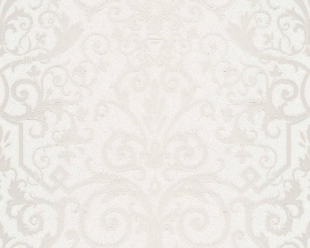 Versace Home Tapete Barock, Grau, Metallics, Weiß 935451