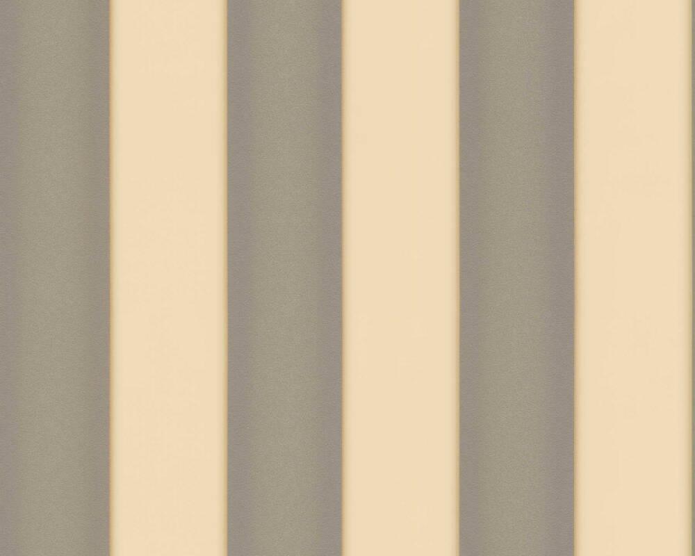 Versace Home papier peint Rayures, crème, gris, métallique 935465