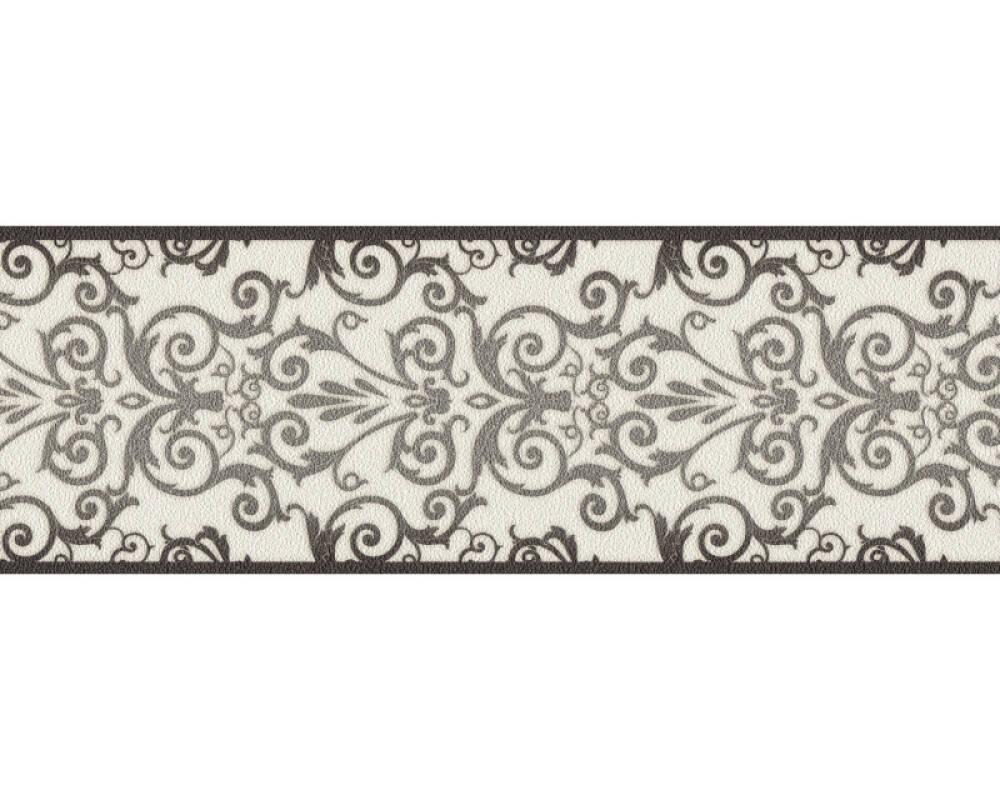 Versace Home frise Baroque, blanc, métallique, noir 935472