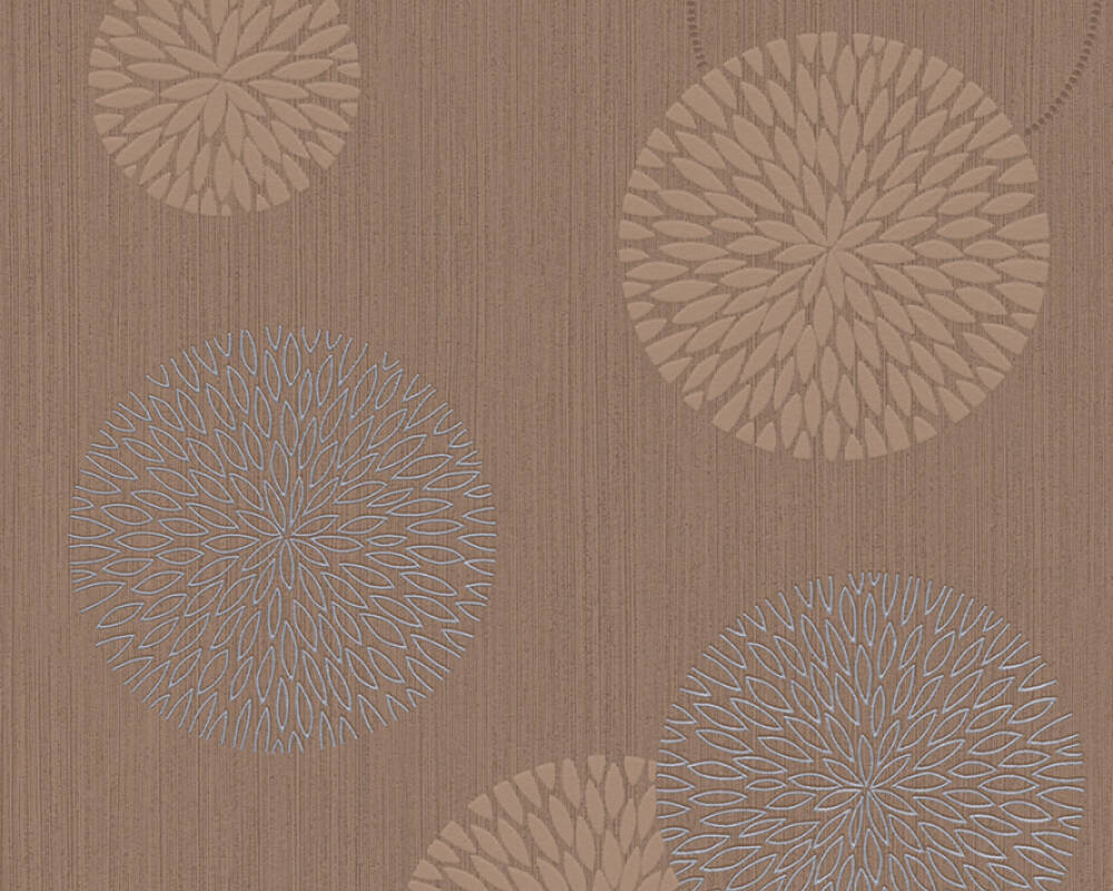 Livingwalls Wallpaper Graphics, Brown, Metallic 937913