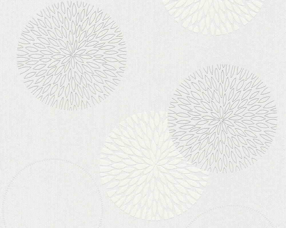 A.S. Création Wallpaper Graphics, Floral, Cream, White 937922