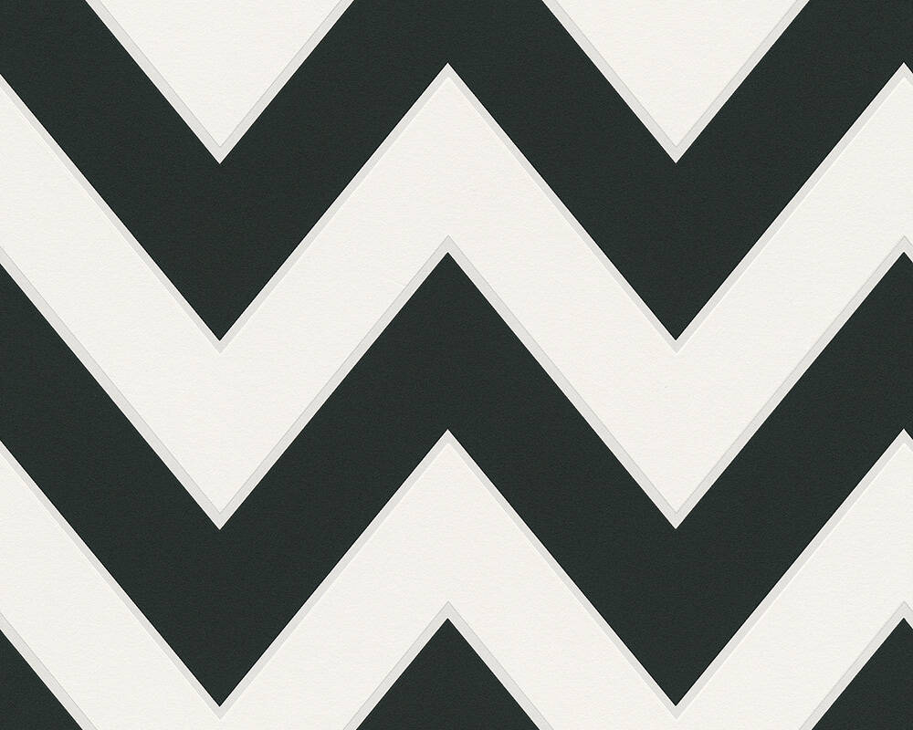 MICHALSKY LIVING Wallpaper Stripes, 3D, Black, White 939431