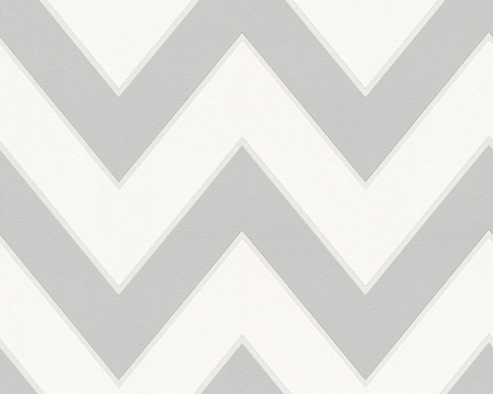 MICHALSKY LIVING Wallpaper Stripes, 3D, Grey, White 939435