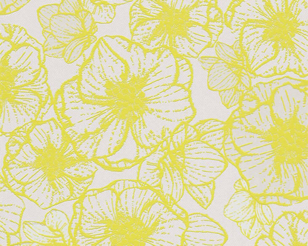 tapete wohnzimmer grün:Esprit home Tapete 940993: Tapete, Creme, Gelb, Grün, Floral, Modern