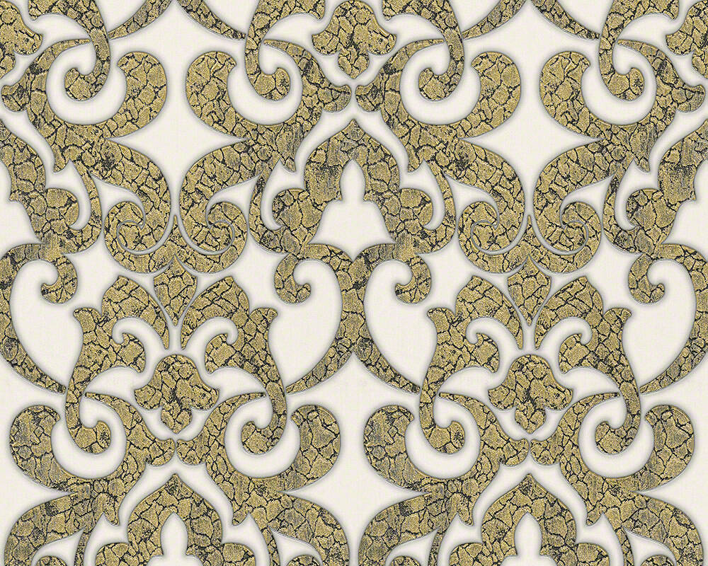 94342 4 hermitage 9 white gold metallic damask wallpaper