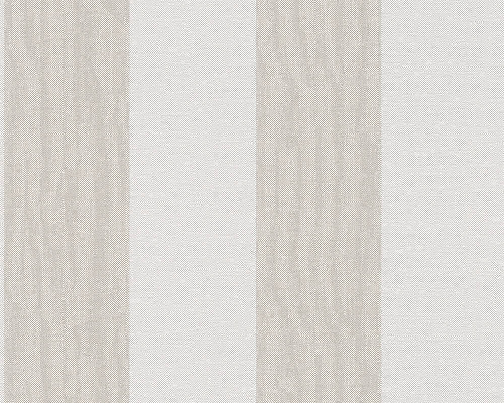 Livingwalls Wallpaper Stripes, Beige, Brown, Cream 948342