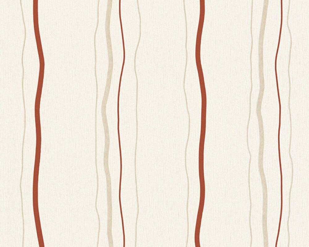Livingwalls Wallpaper Stripes, Beige, Cream, Red 958731