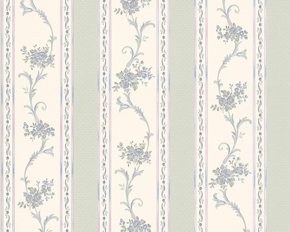 A.S. Création Wallpaper Cottage, Blue, Green, Turquoise 959791