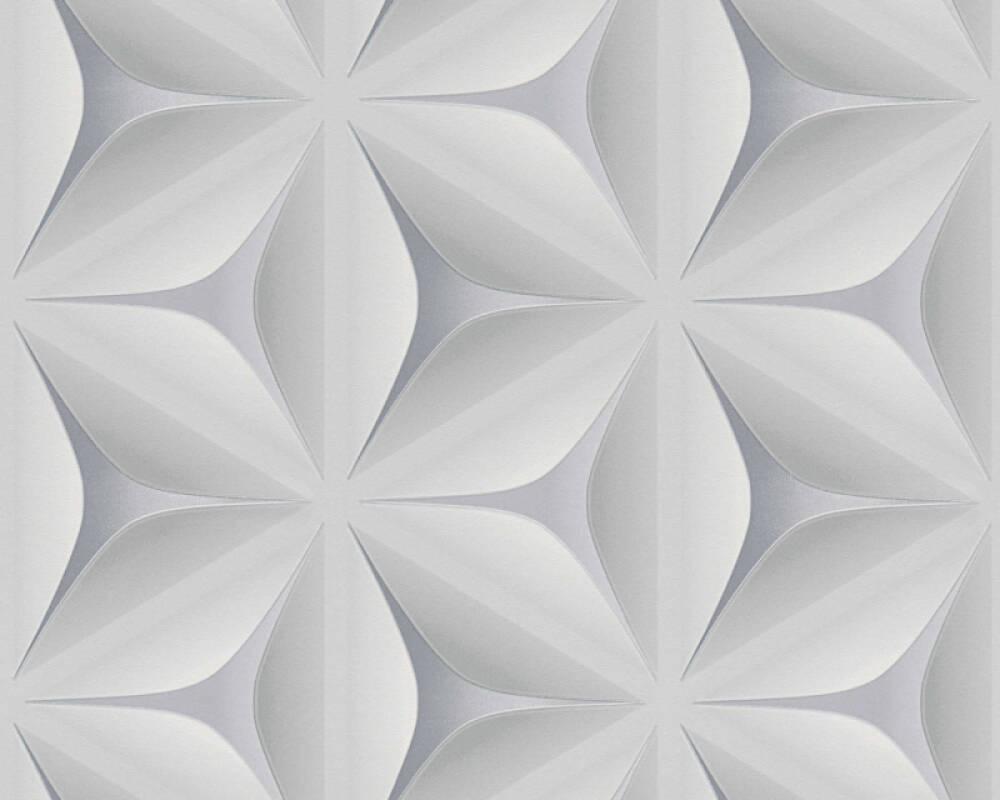 A.S. Création Tapete Grafik, Floral, 3D, Grau 960421