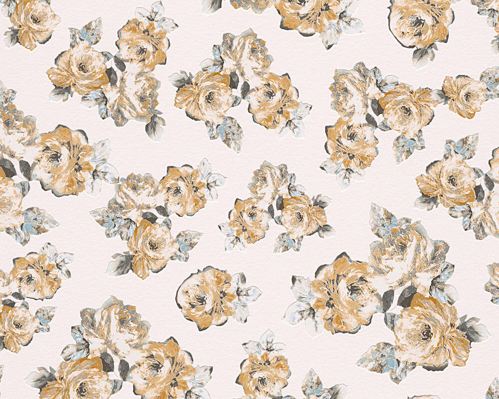 Michalsky Living Wallpaper Floral Grey Yellow 961333