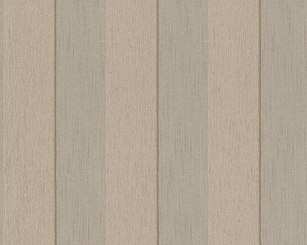 Architects Paper Wallpaper Stripes, Beige, Brown 961943
