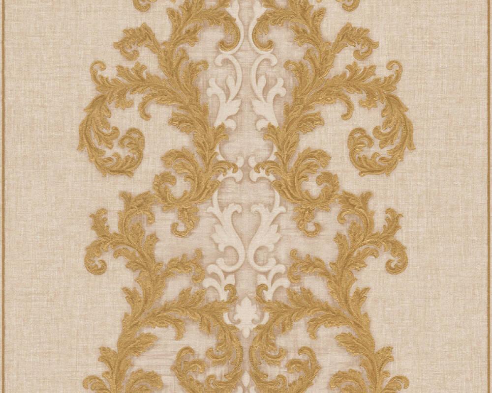 Versace Home Wallpaper Baroque, Beige, Cream, Gold, Metallic 962323
